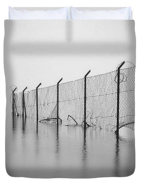 Wire Mesh Fence Duvet Cover by Joana Kruse