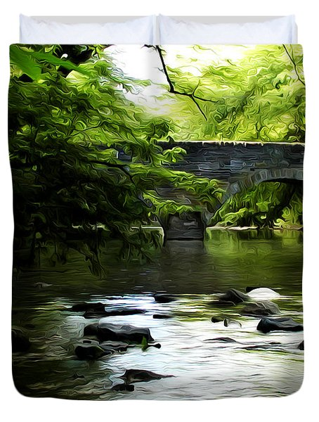 Wissahickon Bridge Duvet Cover by Bill Cannon