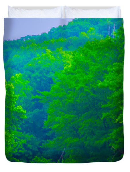 Wissahickon Creek Duvet Cover by Bill Cannon