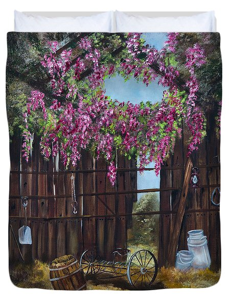 Wisteria Duvet Cover by Jan Holman