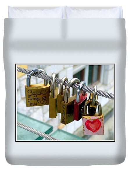 With All My Heart Duvet Cover by Carla Parris
