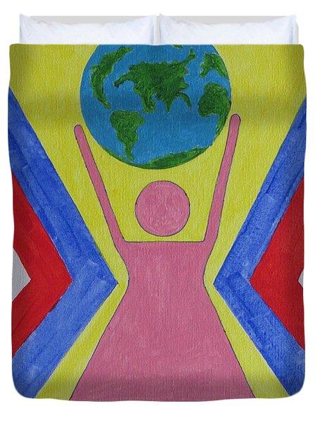 Women Rule The World Duvet Cover by Sonali Gangane