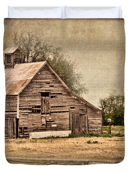 Wood Barn Duvet Cover by Betty LaRue