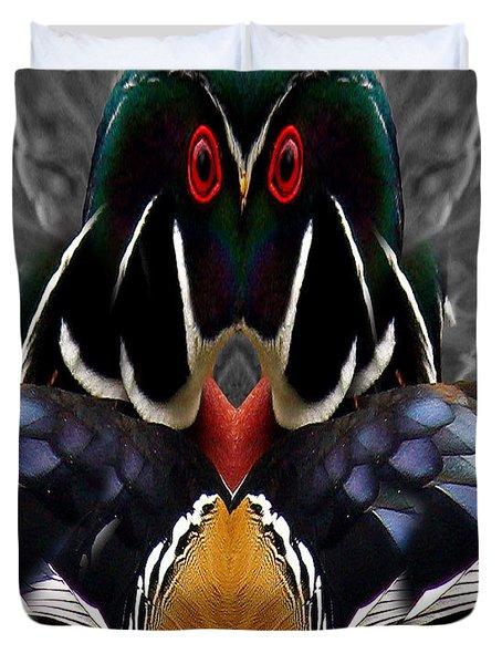 Wood Owl Duvet Cover by Jean Noren