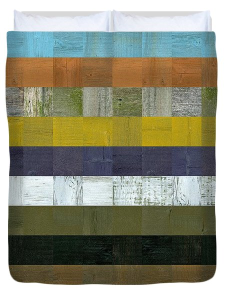 Wooden Abstract L Duvet Cover by Michelle Calkins