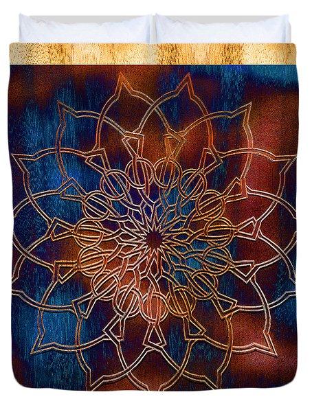 Wooden Mandala Duvet Cover by Hakon Soreide