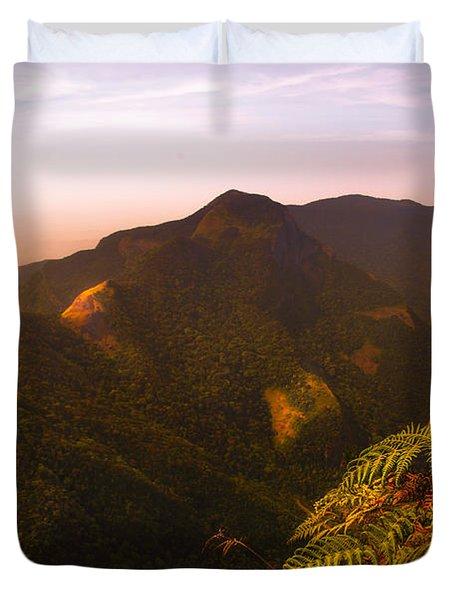Worlds End. Horton Plains National Park I. Sri Lanka Duvet Cover by Jenny Rainbow