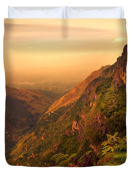 Worlds End. Horton Plains National Park. Sri Lanka Duvet Cover by Jenny Rainbow