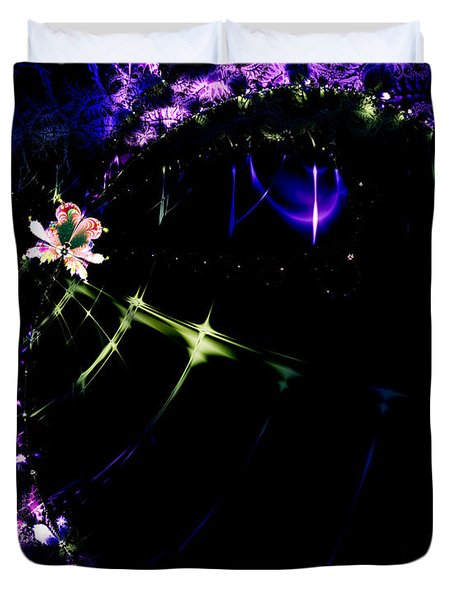 Wormhole Beyond . S4a.S10 Duvet Cover by Wingsdomain Art and Photography