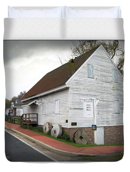 Wye Mill - Street View Duvet Cover by Brian Wallace