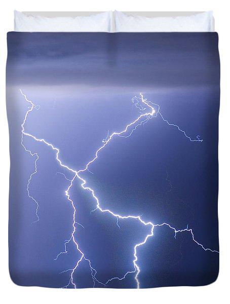 X Lightning Bolt In The Sky Duvet Cover by James BO  Insogna