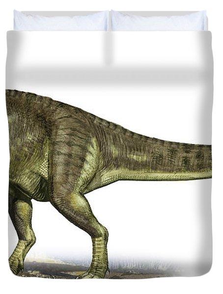 Yangchuanosaurus Shangiouensis Duvet Cover by Sergey Krasovskiy