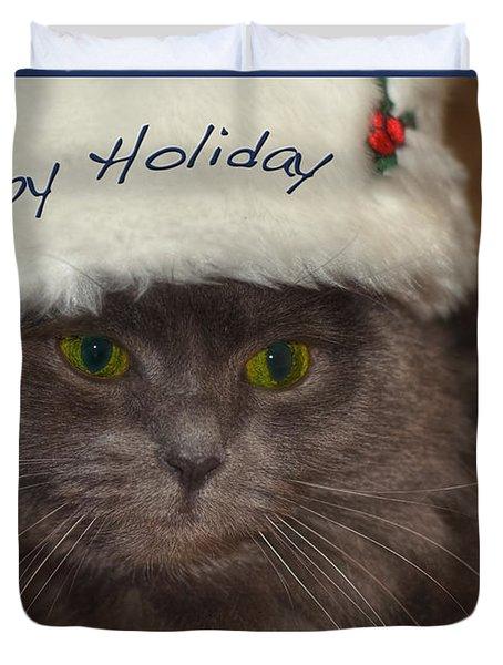 Yankee Cat Duvet Cover by Joann Vitali