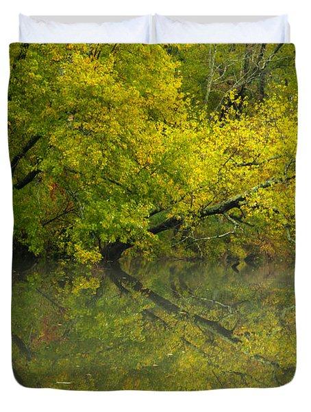 Yellow Autumn Duvet Cover by Karol Livote