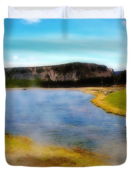 Yellowstone Landscape Duvet Cover by Ellen Heaverlo