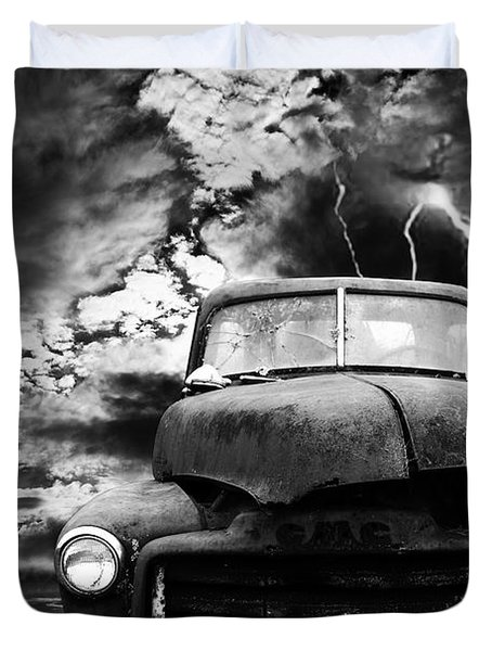 Yesterday Came Early . Tomorrow Is Almost Over . Bw Duvet Cover by Wingsdomain Art and Photography