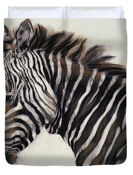 Zebra  Duvet Cover by Odile Kidd