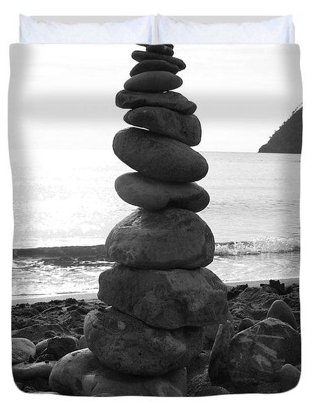 Zen Tower Duvet Cover by Ramona Johnston