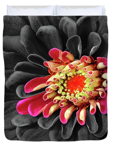 Zinnia Duvet Cover by Dave Mills
