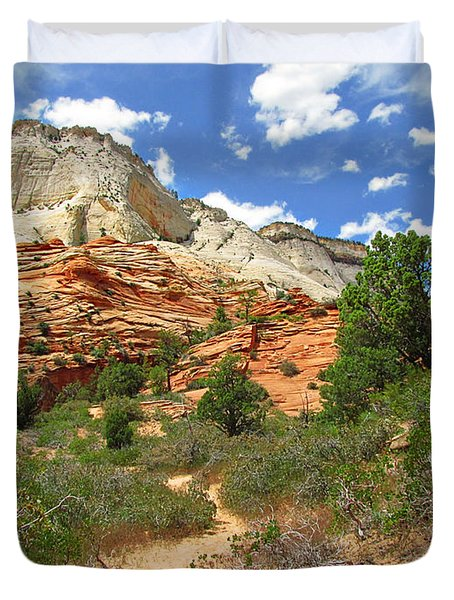 Zion National Park - A Picturesque Wonderland Duvet Cover by Christine Till