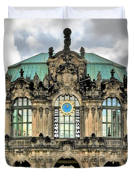 Zwinger Dresden - Carillon Pavilion - Caution Fragile Duvet Cover by Christine Till