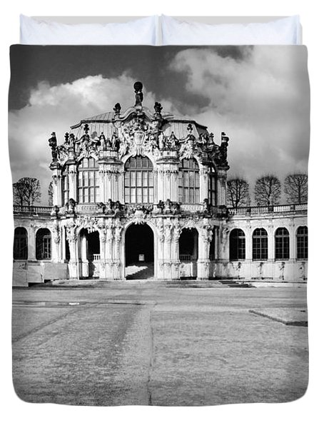 Zwinger Dresden Rampart Pavilion - Masterpiece Of Baroque Architecture Duvet Cover by Christine Till