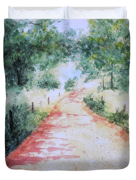 A Country Road Duvet Cover by Vicki  Housel