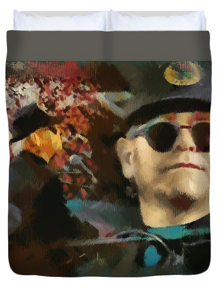Elton John Duvet Cover by Sergey Lukashin