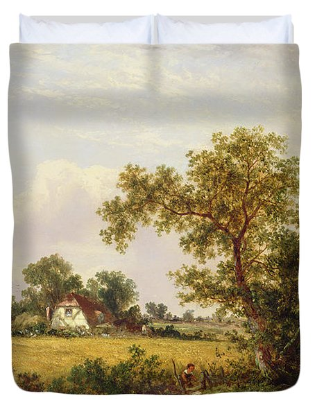 Essex Landscape  Duvet Cover by James Edwin Meadows