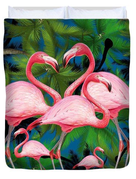 Flamingo Duvet Cover by Mark Ashkenazi