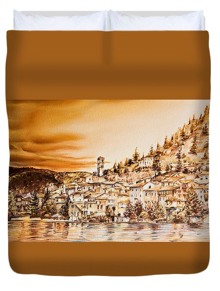 Golden Reflections Duvet Cover by Michel Angelo Rossi