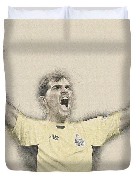 Iker Casillas  Duvet Cover by Don Kuing