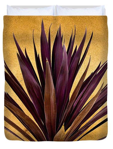 Purple Giant Dracaena Santa Fe Duvet Cover by John Hansen