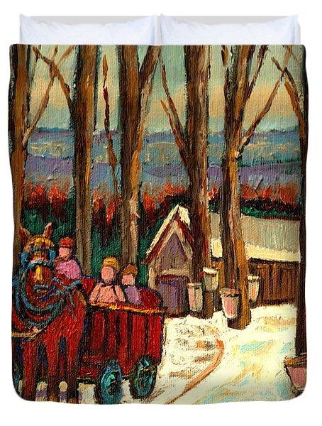 Sugar Shack Duvet Cover by Carole Spandau