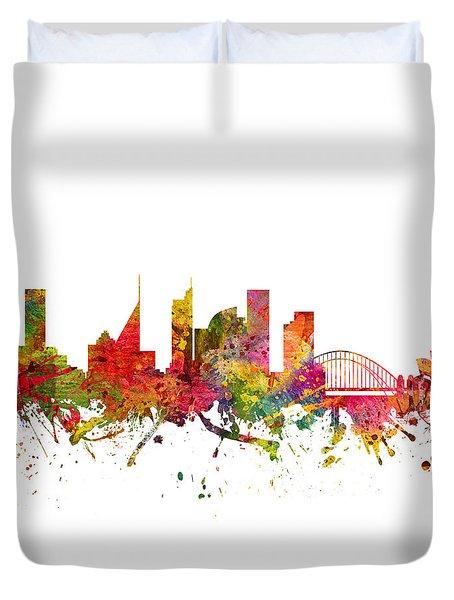 Sydney Australia Cityscape 08 Duvet Cover by Aged Pixel