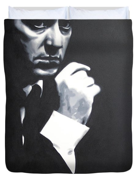 - The Godfather - Duvet Cover by Luis Ludzska