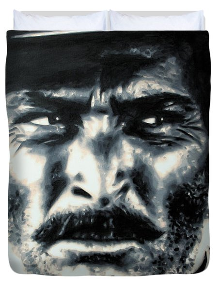 - The Good The Bad and The Ugly - Duvet Cover by Luis Ludzska