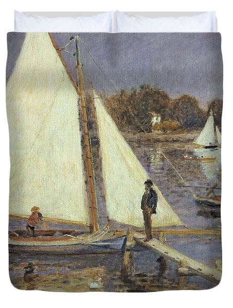 The Seine At Argenteuil Duvet Cover by Pierre Auguste Renoir