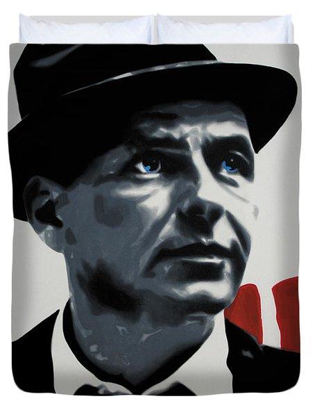 - Sinatra - Duvet Cover by Luis Ludzska
