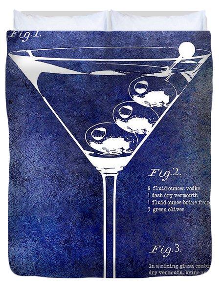1897 Dirty Martini Patent Duvet Cover by Jon Neidert