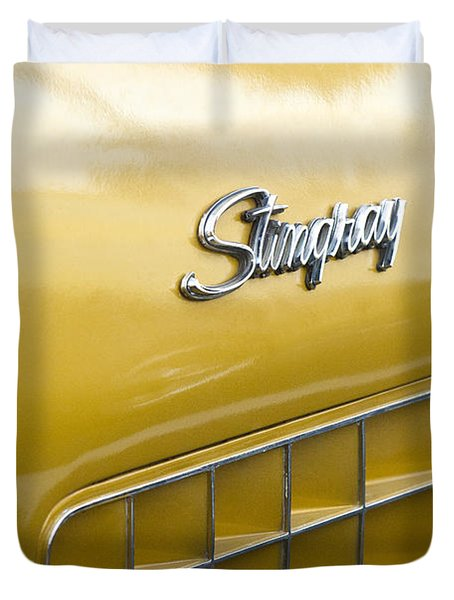1972 Chevrolet Corvette Stingray Emblem Duvet Cover by Jill Reger