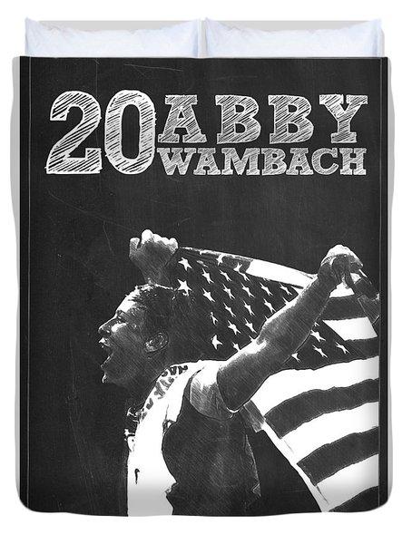 Abby Wambach Duvet Cover by Semih Yurdabak