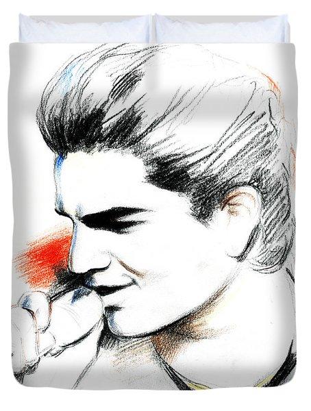 Adam Lambert Duvet Cover by Lin Petershagen