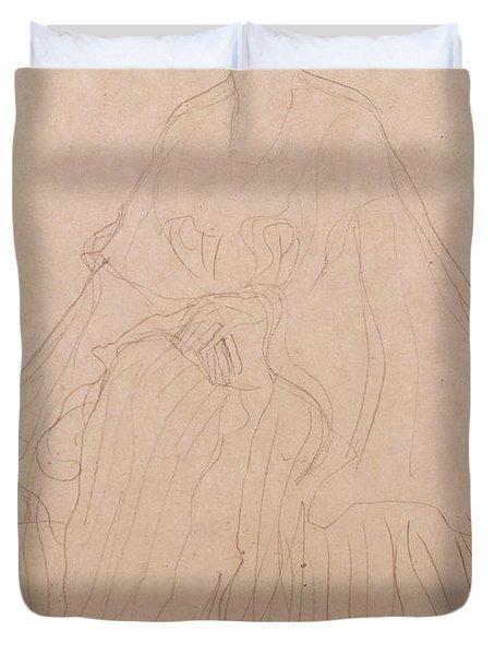 Adele Bloch Bauer Duvet Cover by Gustav Klimt