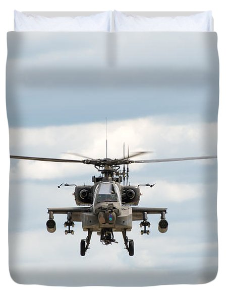 Ah-64 Apache Duvet Cover by Sebastian Musial