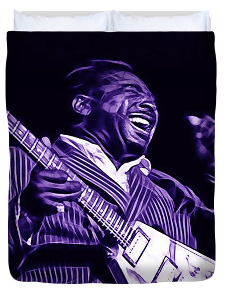 Albert King Collection Duvet Cover by Marvin Blaine