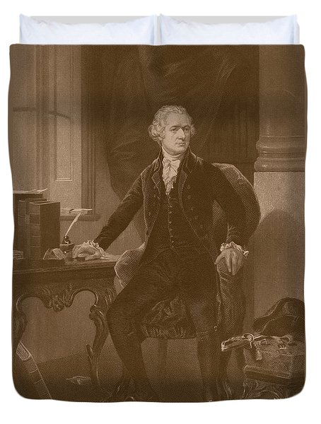 Alexander Hamilton Duvet Cover by War Is Hell Store