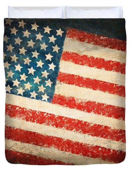 America Flag Duvet Cover by Setsiri Silapasuwanchai