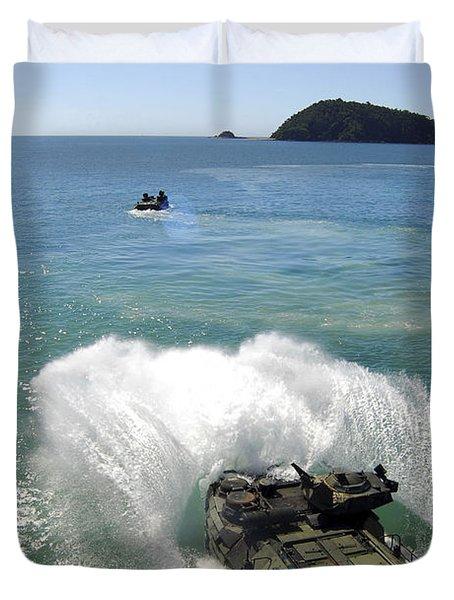Amphibious Assault Vehicles Exit Duvet Cover by Stocktrek Images