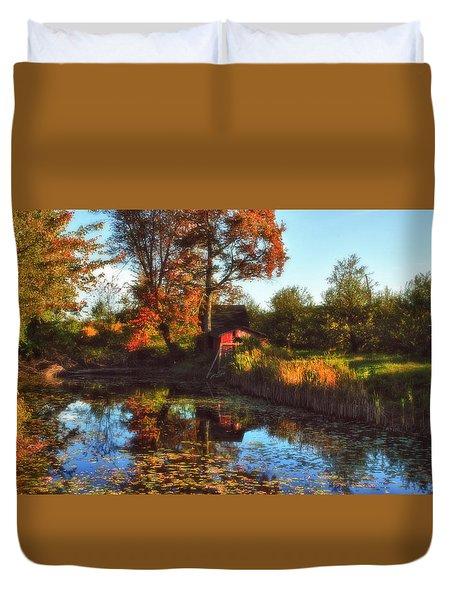 Autumn Palette Duvet Cover by Joann Vitali